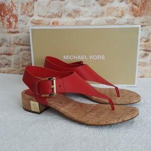 New Michael Kors London Leather Sandals